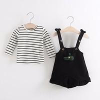 Set áo và quần yếm bé gái 5-10kg -giá 230k - H70108