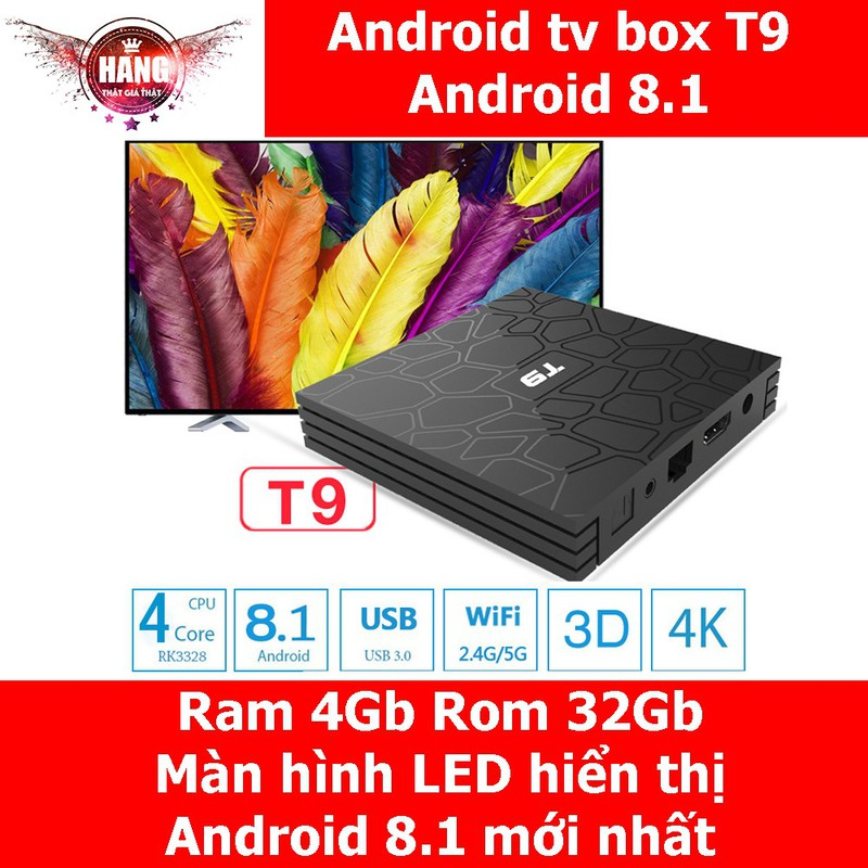 Android tv box T9 | Ram 4G | Android 8 1 12193969 | Betago Vn