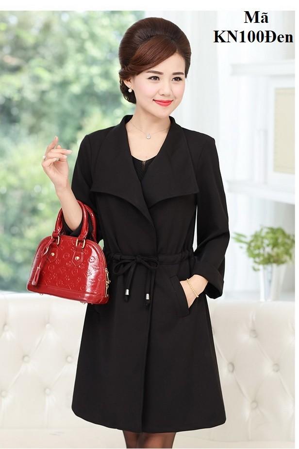 Áo khoác nhẹ cho người trung niên kn100 đen