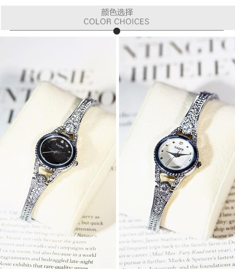 Đồng hồ nữ YAQIN họa tiết đính hạt