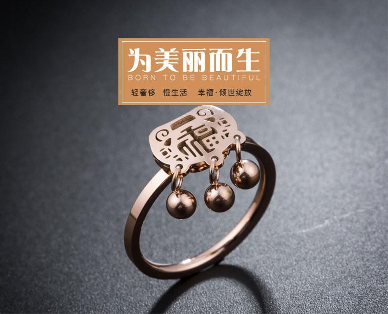 Nhẫn Titan họa tiết đồng xu cổ