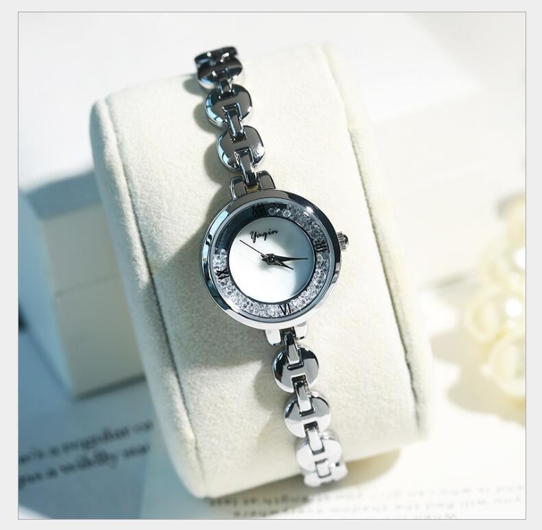 Đồng hồ nữ Yagin đính hạt - Mẫu II