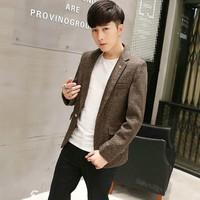 áo khoác blazer nam tính Mã: NK1156 - KEM