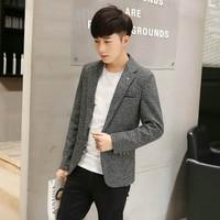 áo khoác blazer nam tính Mã: NK1156 - XÁM