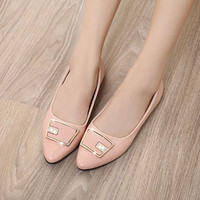 Giày Bệt Mặt Vuông Sang Trọng CK360
