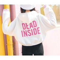 áo hoodie crop top dead inside Mã: AX3449