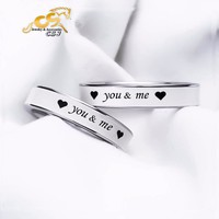 Nhẫn cặp inox you and  me