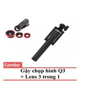 Bộ Gậy chụp hình Q3 Detek + Lens 3 in 1