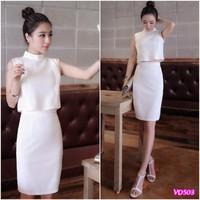 Đầm cổ trụchân váyôm VD503 - V140