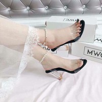 Giày sandal cao gót nữ