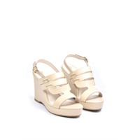 Giày sandal đế xuồng Merly 0824 - Kem