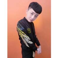 áo khoác nam hình lông vũ army Mã: NK1180 - ĐEN