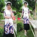 Áo dài trắng họa tiết