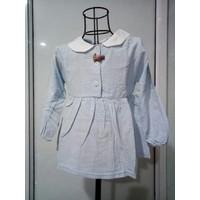Váy tai thỏ hoa nhí xanh da trời cho bé từ 9kg đến 20kg