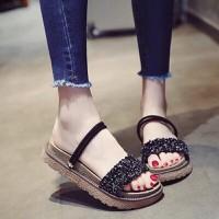 Giày sandal đế bệt nữ quai đá