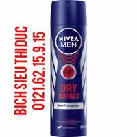 Xịt khử mùi nách Nivea men Dry Impact 150ml - Hàng xách tay Đức