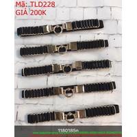 Thắt lưng đầm bản nhỏ mặt tròn dây thun xếp ly TLD228