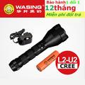FREESHIP-Đèn bảo vệ pin sạc WASING H6 siêu sáng Led CREE  chống nước