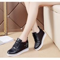Giày bata, sneaker đế độn for you màu đen