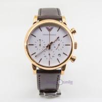 Đồng hồ đeo tay nam dây da giá rẻ AR1809