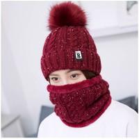 Mũ len kèm khăn nữ RSTM