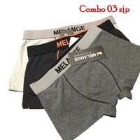 Combo 3 quần sịp đùi nam - Quần lót nam - Quần boxer