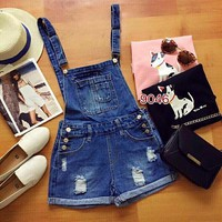 Quần yếm jean nữ