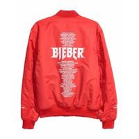 Áo khoác Bomber Bieber