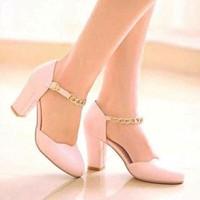 Giày gót vuông cao cấp CK346