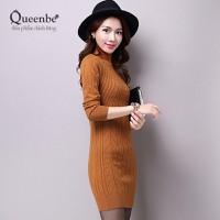 Váy đầm ôm váy đầm len đẹp Queenbe GLV064