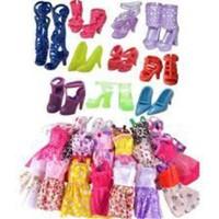 Bộ Phụ Kiện 10 Đôi Giầy Và 05 Váy Ngắn Dành Cho Búp Bê
