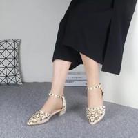 Giày sandal cao gót 3p đế vuông