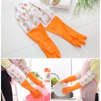 [Hàng đẹp, không chảy nhựa] Găng tay BÓ MIỆNG cao su làm bếp loại dài