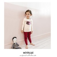 Bộ đồ hình mèo dễ thương cho bé - Đồ bộ thu đông cho bé gái