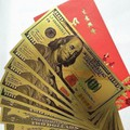 ComBo 10 Tờ 100 USD Mạ PLASTIC  May Mắn