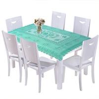 Khăn trải bàn phong cách cổ điển 76 x 120cm màu xanh lá
