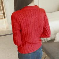 áo len nữ tay dài thu đông Mã: AK1524 - ĐỎ