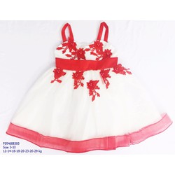 12-29kg_Đầm voan bé gái 2 dây trắng bông đỏ_s3-10