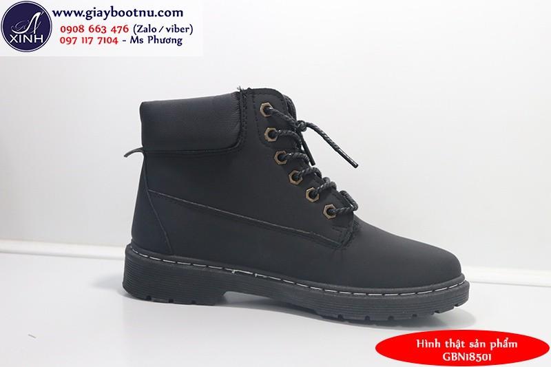 Giày boot nữ Martin chuẩn sành điệu đen GBN18501