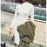 Đầm body dài tay