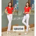 Quần jean trắng lưng cao 1 nút QD250