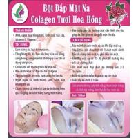 Bột đắp mặt nạ collagen tươi hoa hồng