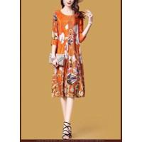Đầm Suông Hoạ Tiết Hoa