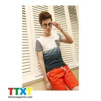 áo thun nam kiểu hàn quốc Mã: NT653 - XANH ĐẬM