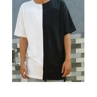 Áo Long tee layer trắng đen