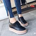 Giày Bánh Mì Nữ Đế Độn Hàn Quốc Màu Đen
