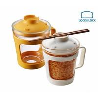 Cốc nấu mỳ, canh, súp thủy tinh có nắp đậy 500ml Easy Cook Lock-Lock