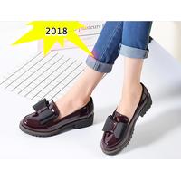 Giày Oxford nữ đính nơ 2018