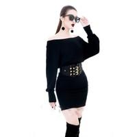 Áo váy kiểu áo trễ vai tay dài váy ngắn