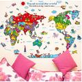 Decal dán tường bản đồ du lịch thế giới V50